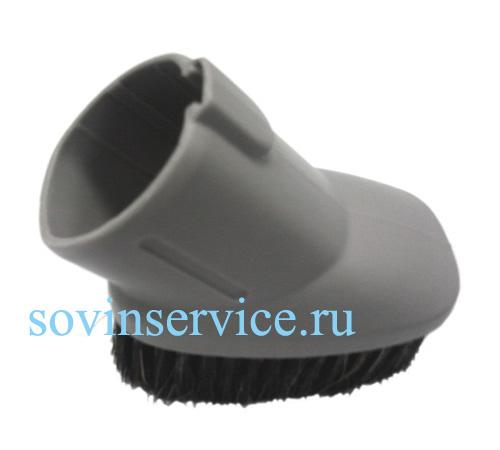 1131406017 - Насадка для мебели с щетиной на овальный диаметр трубы (32->35 мм) серая к пылесосам Electrolux