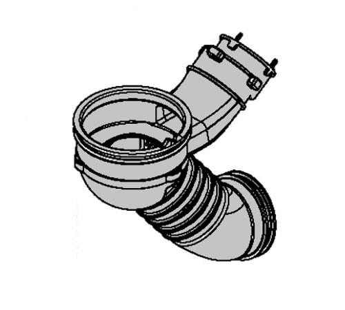 1320721424 - Патрубок бак - сливная помпа к стиральным машинам AEG, Electrolux, Zanussi, Ikea