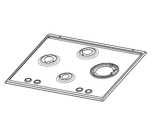 140015091345 - Панель к газовым варочным поверхностям Electrolux GPE363RBW