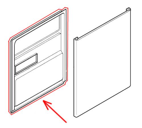 140025959028 - Дверь, внутренняя часть к посудомоечным машинам AEG, Electrolux, Zanussi, Ikea