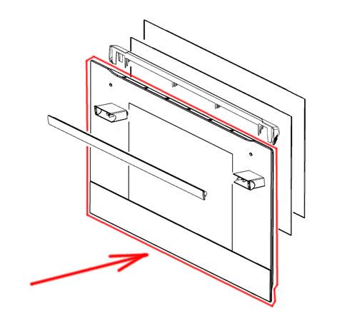 140043376742 - Cтекло двери духовки внешнее к духовым шкафам Electrolux