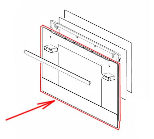140043376759 - Cтекло двери внешнее к духовым шкафам Electrolux