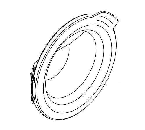 140061935965 - Дверь загрузочного люка G55,Ø490MM к стиральным машинам AEG