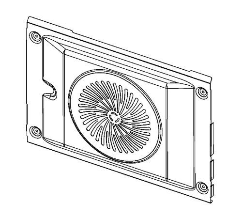 140111991034 - Корпус, задняя часть к духовкам AEG, Electrolux, Zanussi, IKEA