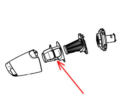 140134299019 - Фильтр внешний к ручным пылесосам Electrolux и AEG