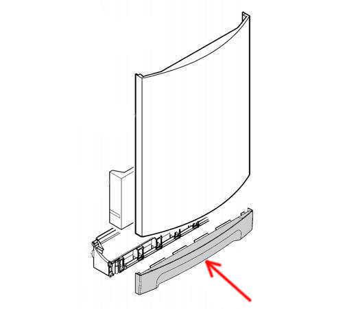 1529331900 - Панель декоративная нижняя к посудомоечным машинам Electrolux и Zanussi
