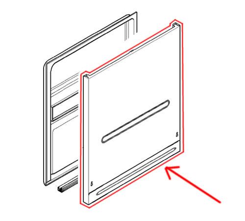 1560285866 - Панель дверная внешняя часть к посудомоечным машинам AEG, Electrolux, Zanussi, Ikea