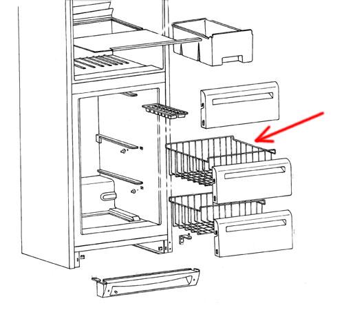 2061637001 - Корзина верхняя в морозильную камеру холодильников Electrolux, AEG, Zanussi