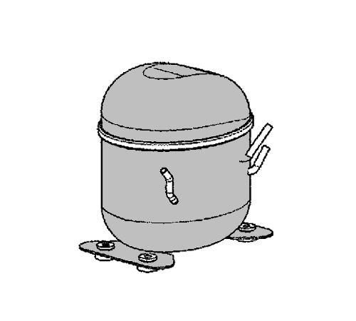 2425751274 - Компрессор HKK95AL к холодильникам Electrolux и Zanussi