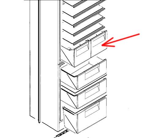 2647018049 - Ящик овощной к холодильникам Zanussi ZBB