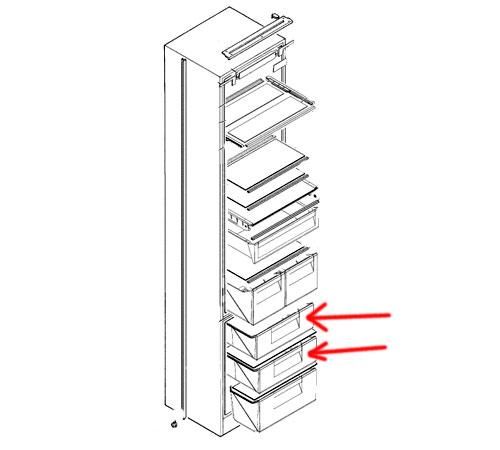 2651107084 - Ящик морозильной камеры верхинй/срадний к холодильникам Electrolux