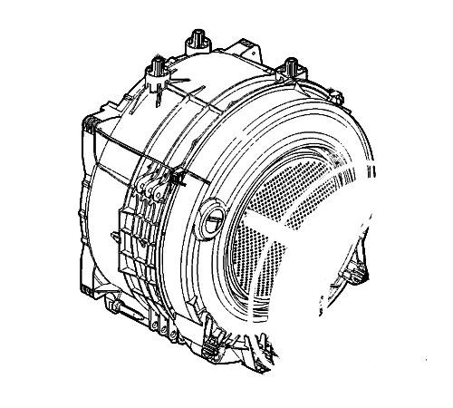 3315048003 - Бак в сборе с барабаном к стиральным машинам Electrolux и Zanussi