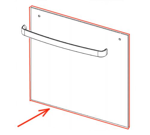 3428369031 - Cтекло двери внешнее к электроплитам Zanussi и Electrolux