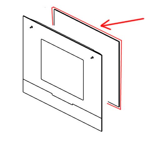 3429341013 - Стекло двери внутреннее 490х401 5мм к духовкам AEG, Electrolux, Zanussi, Ikea