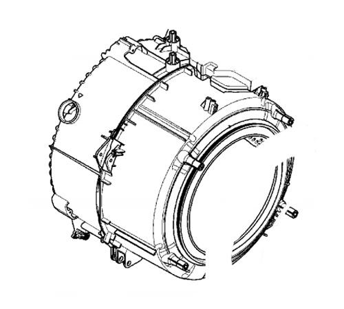 3484159847 - Бак в сборе с барабаном G29 10 к стиральным машинам AEG, Electrolux, Zanussi