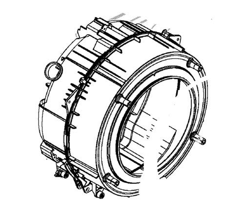 3484160316 - Бак в сборе с барабаном к стиральным машинам AEG, Electrolux, Zanussi, Ikea