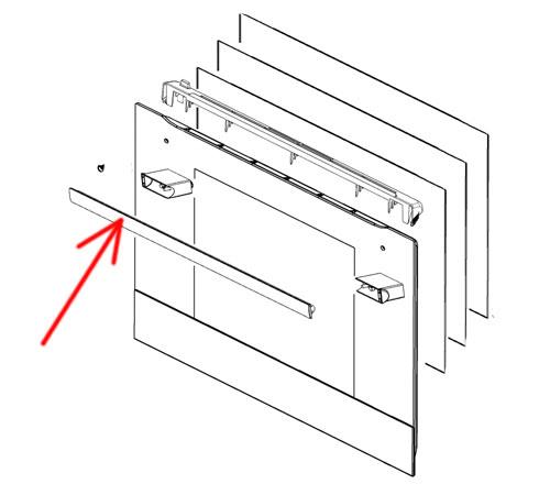 3548048028 - Ручка двери 518мм/460мм к духовым шкафам Electrolux