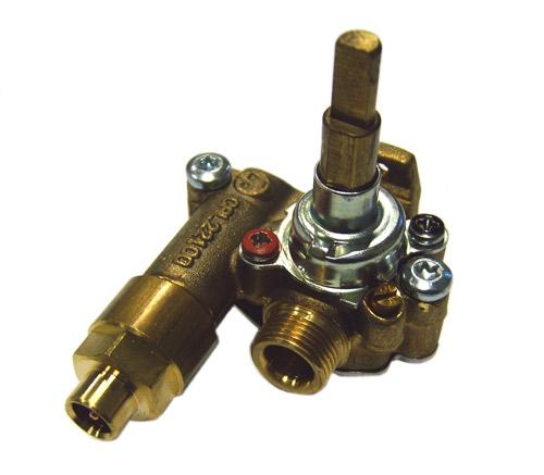 3577306040 - Кран газовый к плитам Electrolux и Zanussi