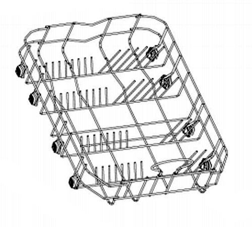4055075388 - Корзина нижняя к посудомоечным машинам Zanussi ZDS105, ZDTS105