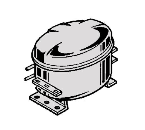 4055076741 - Компрессор HMK80AA-AL к холодильникам AEG, Electrolux, Zanussi