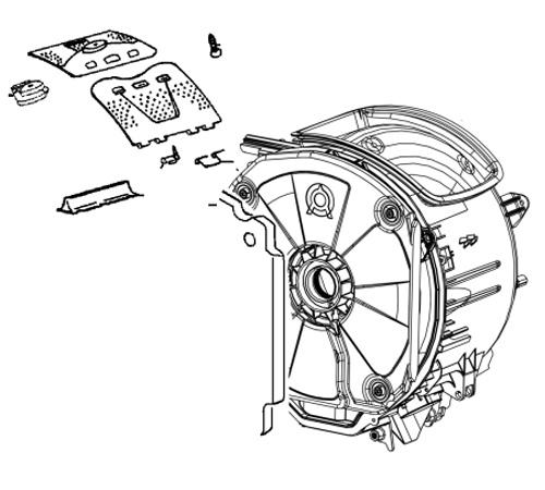 4055130324 - Бак в сборе с барабаном к стиральным машинам AEG