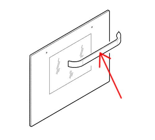 4055255345 - Ручка двери к духовым шкафам Electrolux