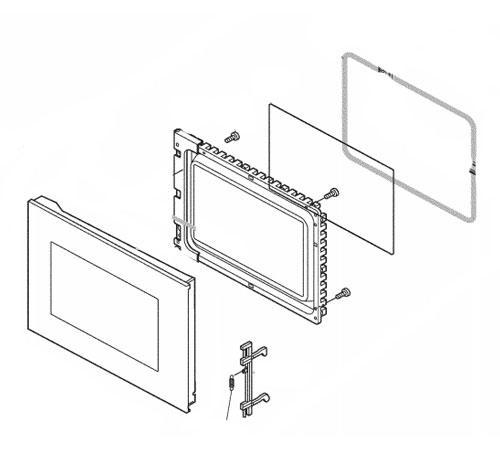 4055265401 - Дверь в сборе к микроволновым печам AEG