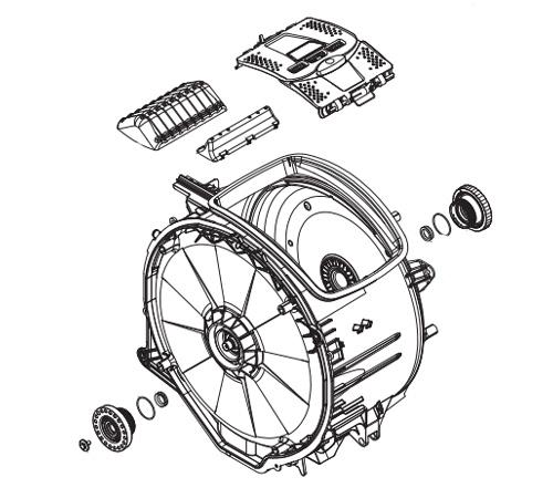 4055321279 - Бак в сборе с барабаном к стиральным машинам Electrolux