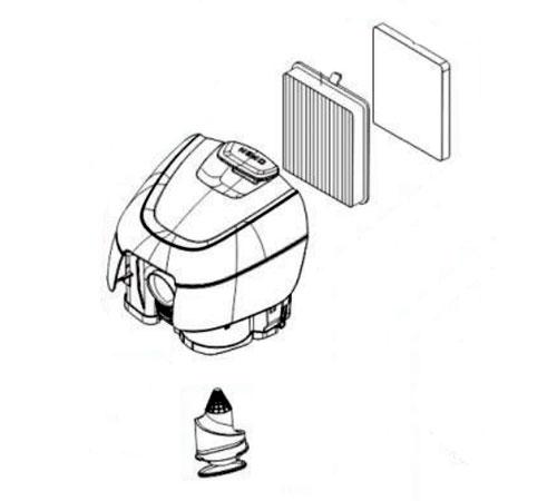 4055360582 - Контейнер для сбора пыли в сборе к пылесосам Electrolux