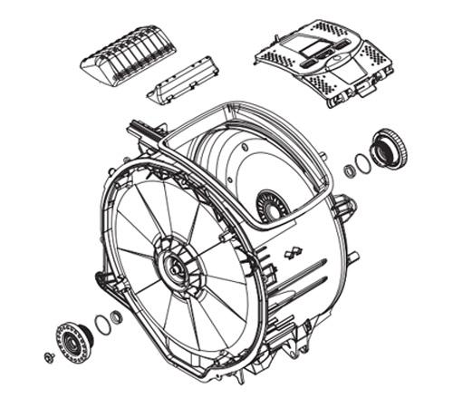 4055366530 - Бак в сборе с барабаном к стиральным машинам Electrolux и Zanussi