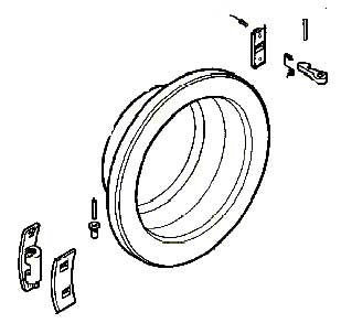 50253013002 - Дверь загрузочного люка к стиральной машине Zanussi