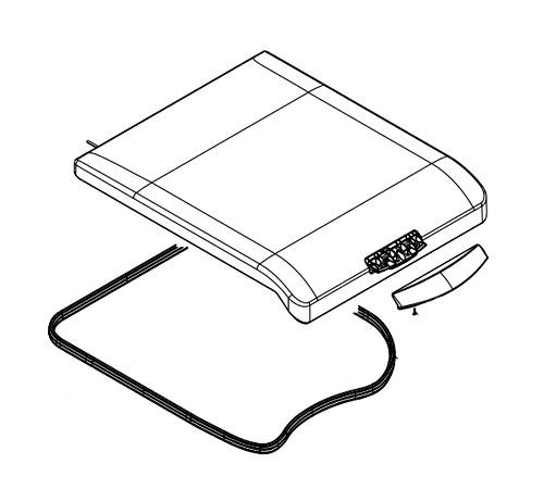8074161012 - Крышка верхняя в сборе с ручкой и прокладкой к стиральным машинам Zanussi ZWY..