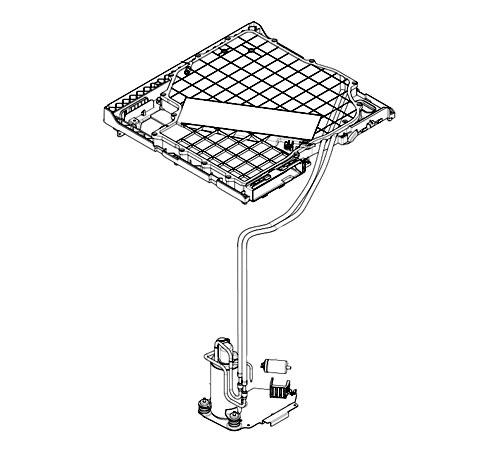 8080235214 - Компрессор в сборе с конденсатором к стирально-сушильным машинам AEG и Electrolux