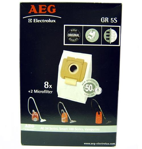 9002565407 - Мешки бумажные Grobe 5 S (8+2mF) к пылесосам AEG