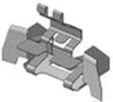 3004233007 - Держатель конфорки электроплит AEG, Electrolux